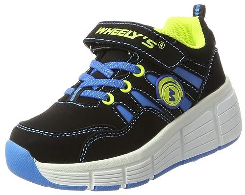 Zapatillas con ruedas automáticas para niños - Mod. 166 - Azul - Talla 32: Amazon.es: Zapatos y complementos
