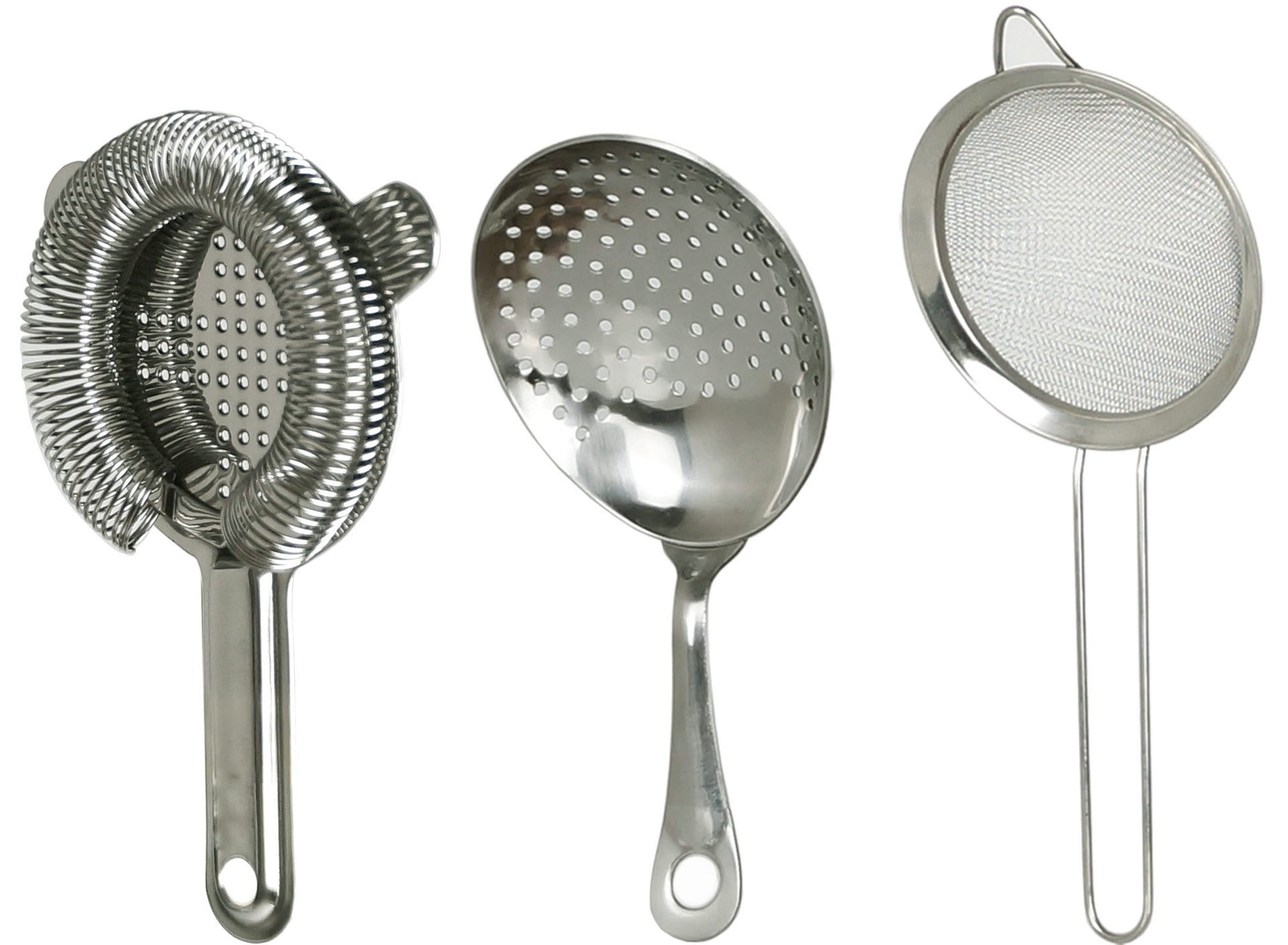 Jillmo Stainless Steel Bar Cocktail Strainer Set - Include 100 Wire Spring Hawthorn Strainer Julep Strainer Sifter. by Jillmo (Image #1)