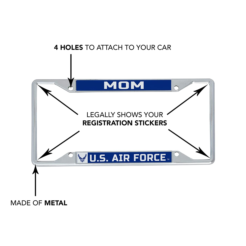 Desert Cactus US Air Force Mom License Plate Frame for Front Back of Car Officially Licensed United States Frame - Mom