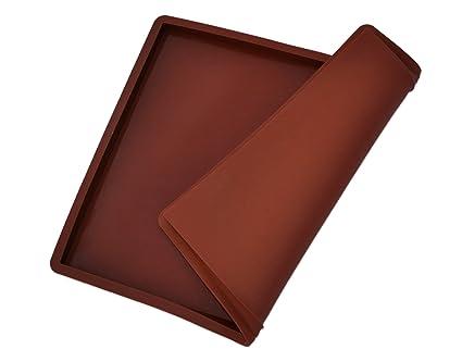 HMcommerce Silikon Backmatte Premium 36cmx28cmx1,5cm groß, mit Rand, wiederverwendbar, antihaftbeschichtet, Rutschfest, Leben
