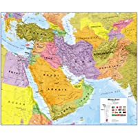Middle East Political Laminated Map 2016