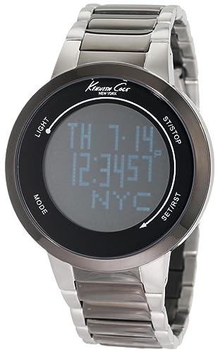 Kenneth Cole KC9028 - Reloj Digital de Cuarzo para Hombre con Correa de Acero Inoxidable, Color Gris: Kenneth Cole: Amazon.es: Relojes