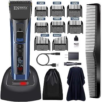 ENHOOTA Corta pelos inalámbrico para hombres, corta barbas, set de corta pelos eléctrico recarg...