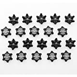 STRONGCLOUD 20Pcs Black Easy Replacement Spikes Golf Shoes Creates A Lower  Profile Platform 644bafef7