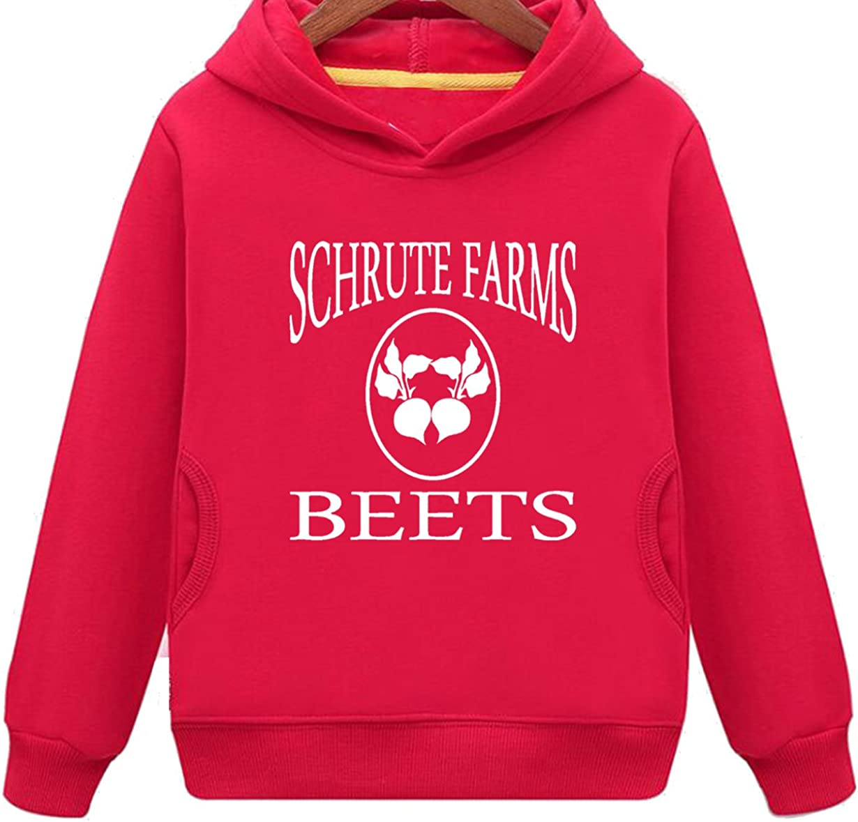 Buffaloo Kids Two Pockets Schrute Farms Beets Funny Hoodie