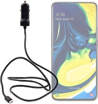DURAGADGET Cargador de Coche USB C para Smartphone Samsung Galaxy A80 3 Amperios.: Amazon.es: Electrónica