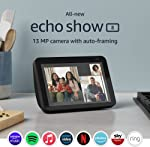 All-new Echo Show 8 | 2nd generation (2021 release), HD smart display with Alexa and 13 MP camera | Charcoal