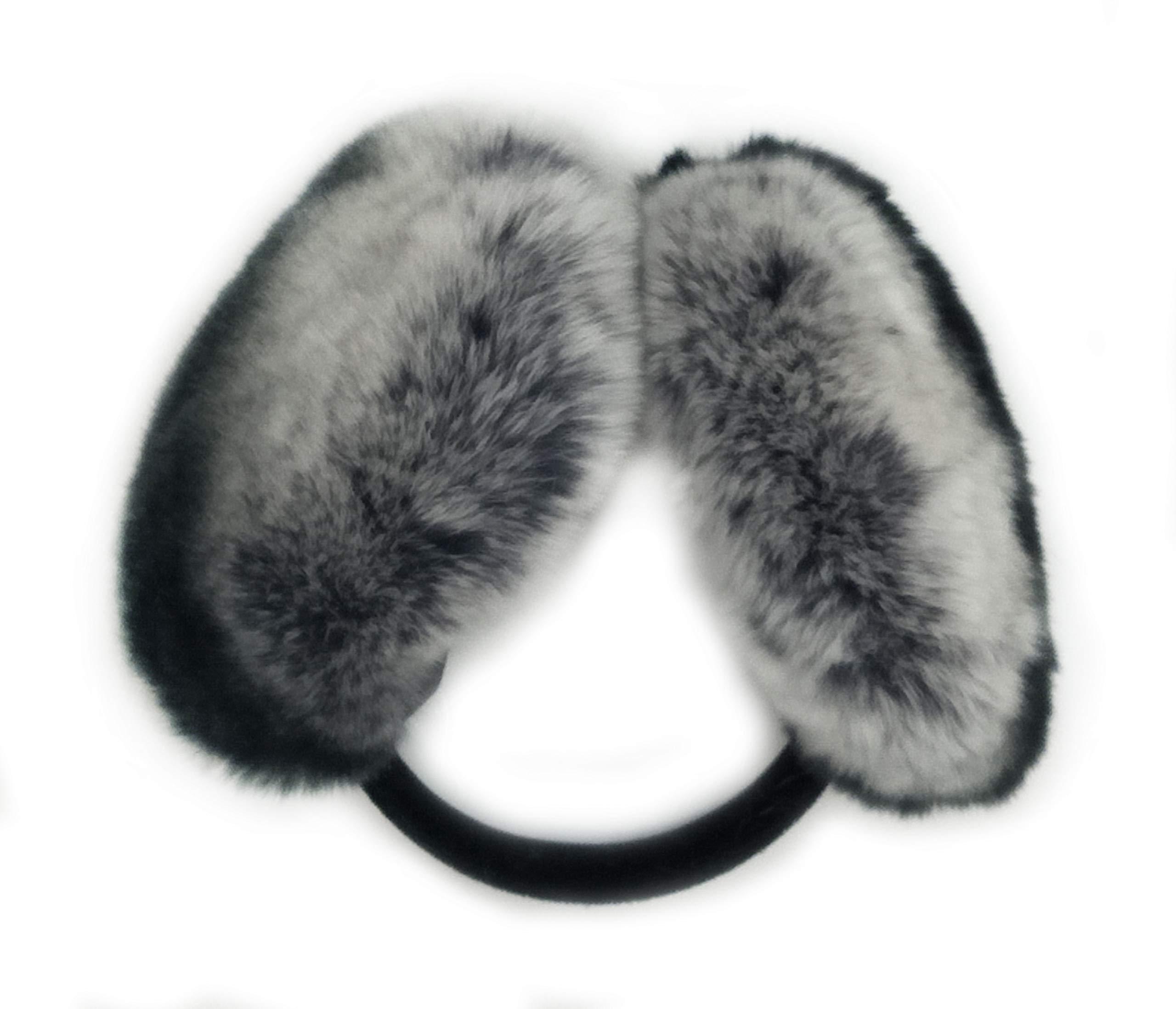 Hima 100% Rex Rabbit Earmuff (Chinchilla)