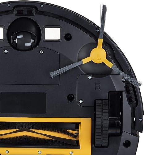 H.Koenig SWRC130 Robot Aspidador y Fregasuelos 3 en 1, Aspira, Barre y Friega, Autonomía 100 Mins, 1800 Pa, Filtro Hepa, 70 Db, Tanque de Agua 600 ml, 4 Ciclos, Conexión Wifi, Compatible con Alexa: Amazon.es: Hogar