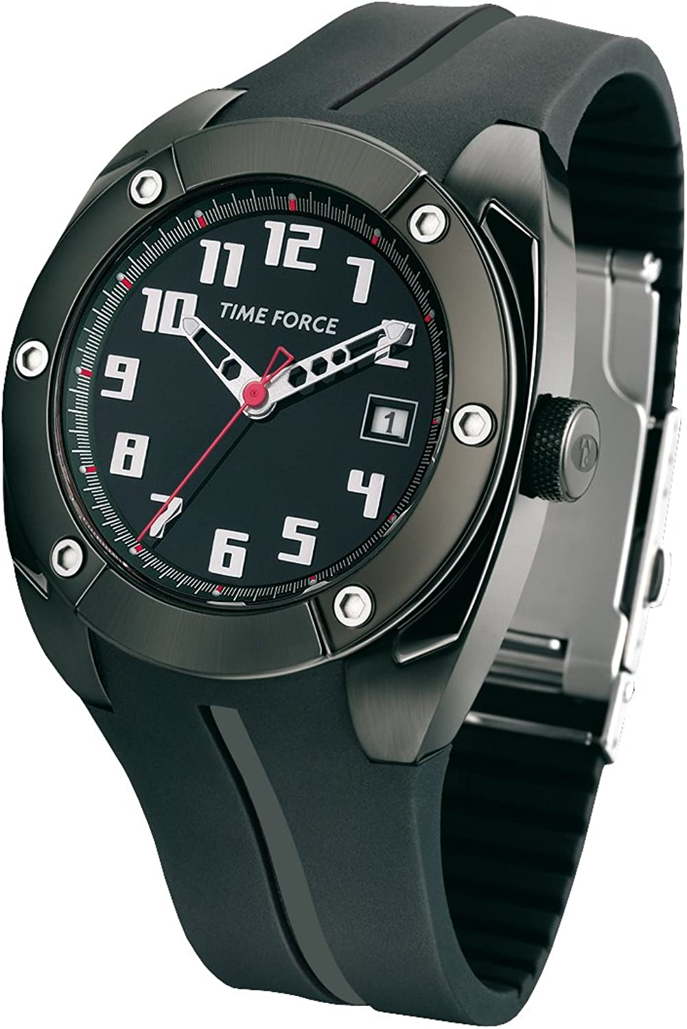 Time Force Reloj con Correa de Caucho TF2908M11
