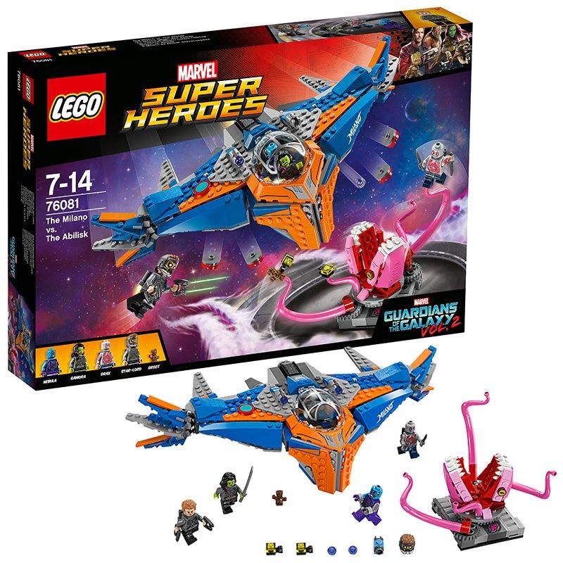LEGO 76081THE MILANO VS. THE ABILISK - LEGO Guardians of the Galaxy Vol.2