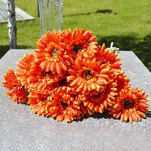10pcs Artificielle Gerbera Bouquet Fleurs Artificielles Belle