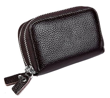 1e4f27c255 iSuperb Porta Carte di Credito RFID Portafoglio Portamonete in Pelle Wallet  Credit Card Holder da Viaggio