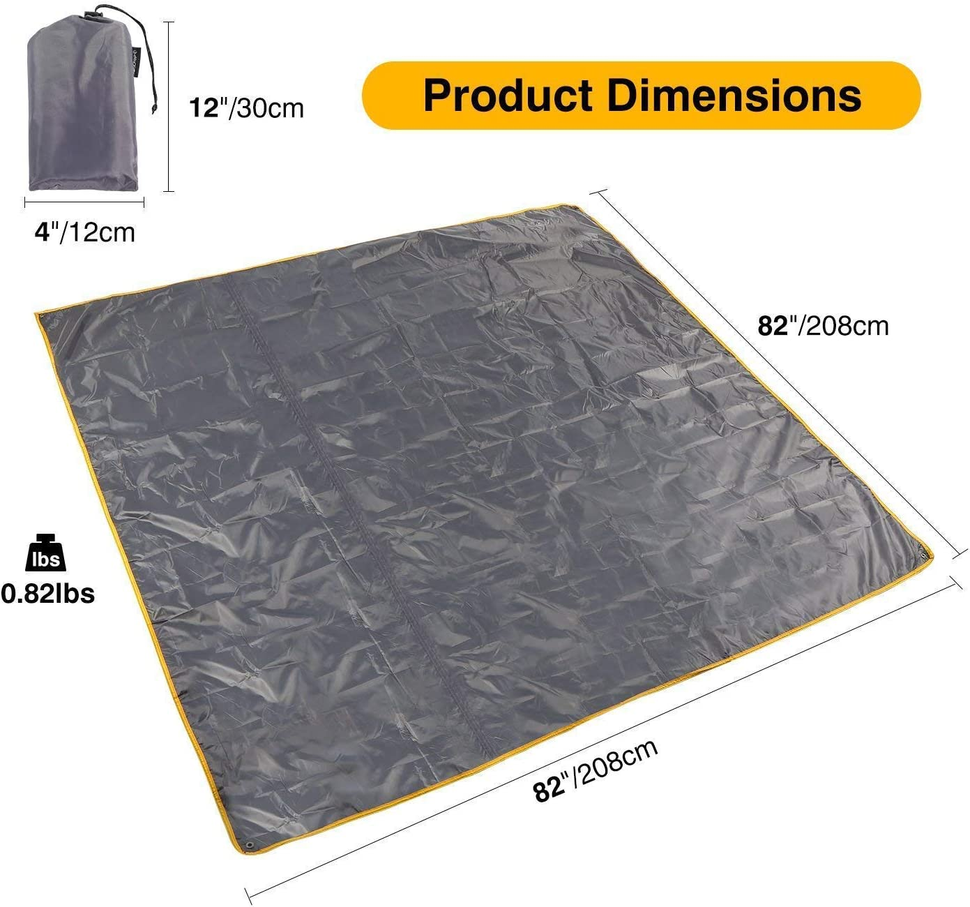 Lightweight Compact REDCAMP Waterproof Camping Tent Tarp 90//140//180//210//240//270//300cm 4 in 1 Tent Footprint Multifunctional for Camping Hiking Survival Tarp