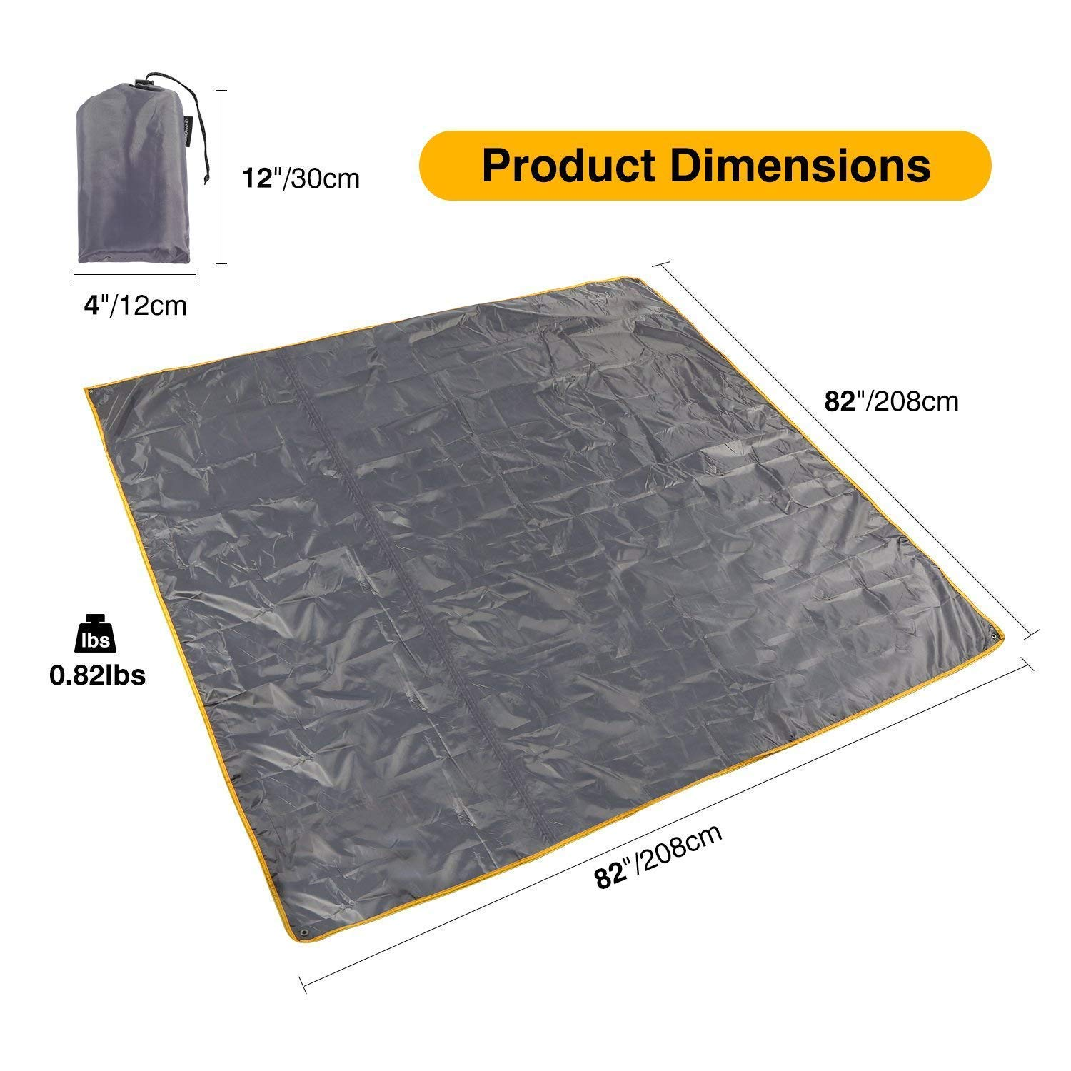 4 in 1 Tent Footprint Multifunctional for Camping Hiking Survival Tarp Lightweight Compact REDCAMP Waterproof Camping Tent Tarp 90//140//180//210//240//270//300cm