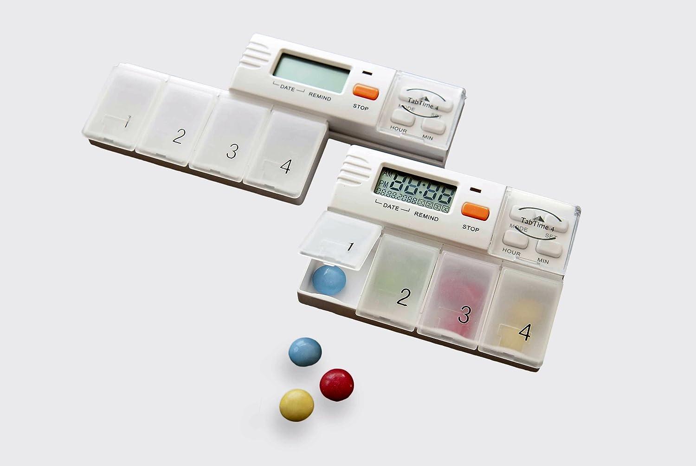TabTime 4, pastillas electrónicas dispensador de medicamentos: Amazon.es: Hogar