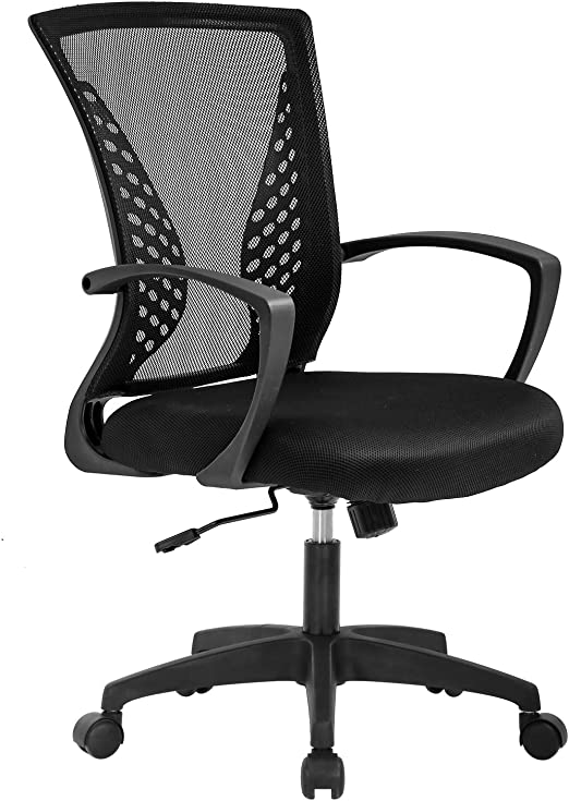 Amazon Com Vnewone Ergonomic Office Chair Desk Computer Mesh Executive Task Rolling Gaming Swivel Modern Adjustable With Mid Back Lumbar Support Armrest For Home Women Men Black Furniture Decor