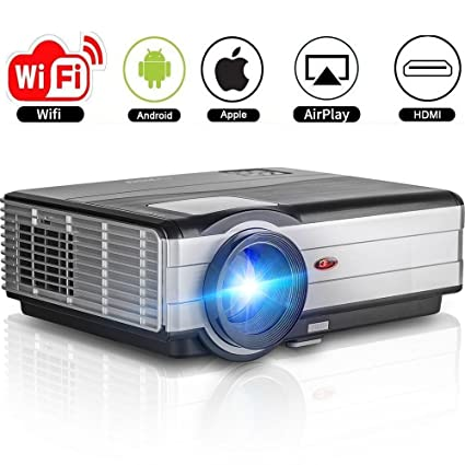 Amazon.com: Home Theater Projectors Android 3500 Lumens Support WiFi ...