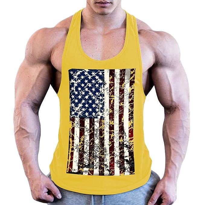 Men Muscle Sleeveless Tank Top Gym T Shirt Sport Fitness Vest Workout GYM Tee US