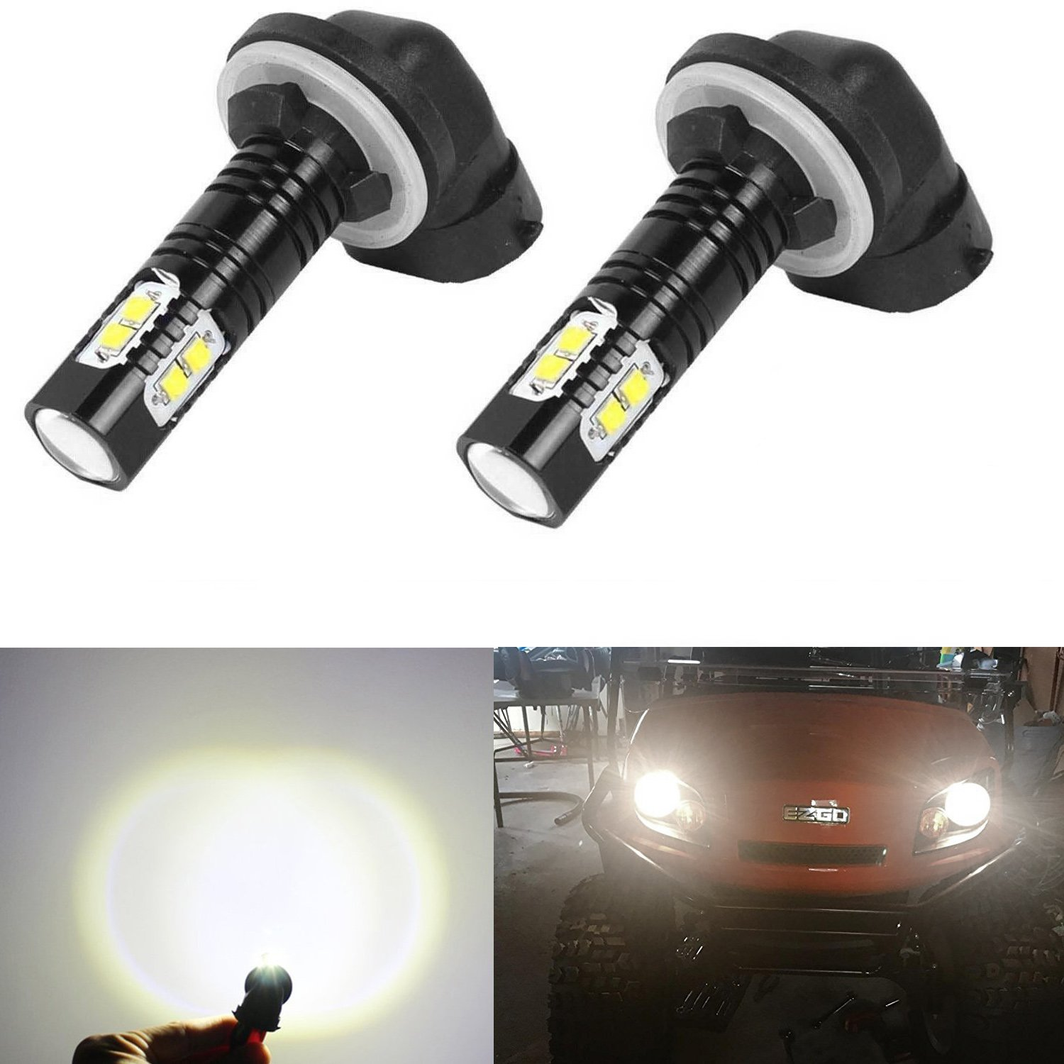 Golf Cart Light Halogens Replacement Led Headlight Bulb