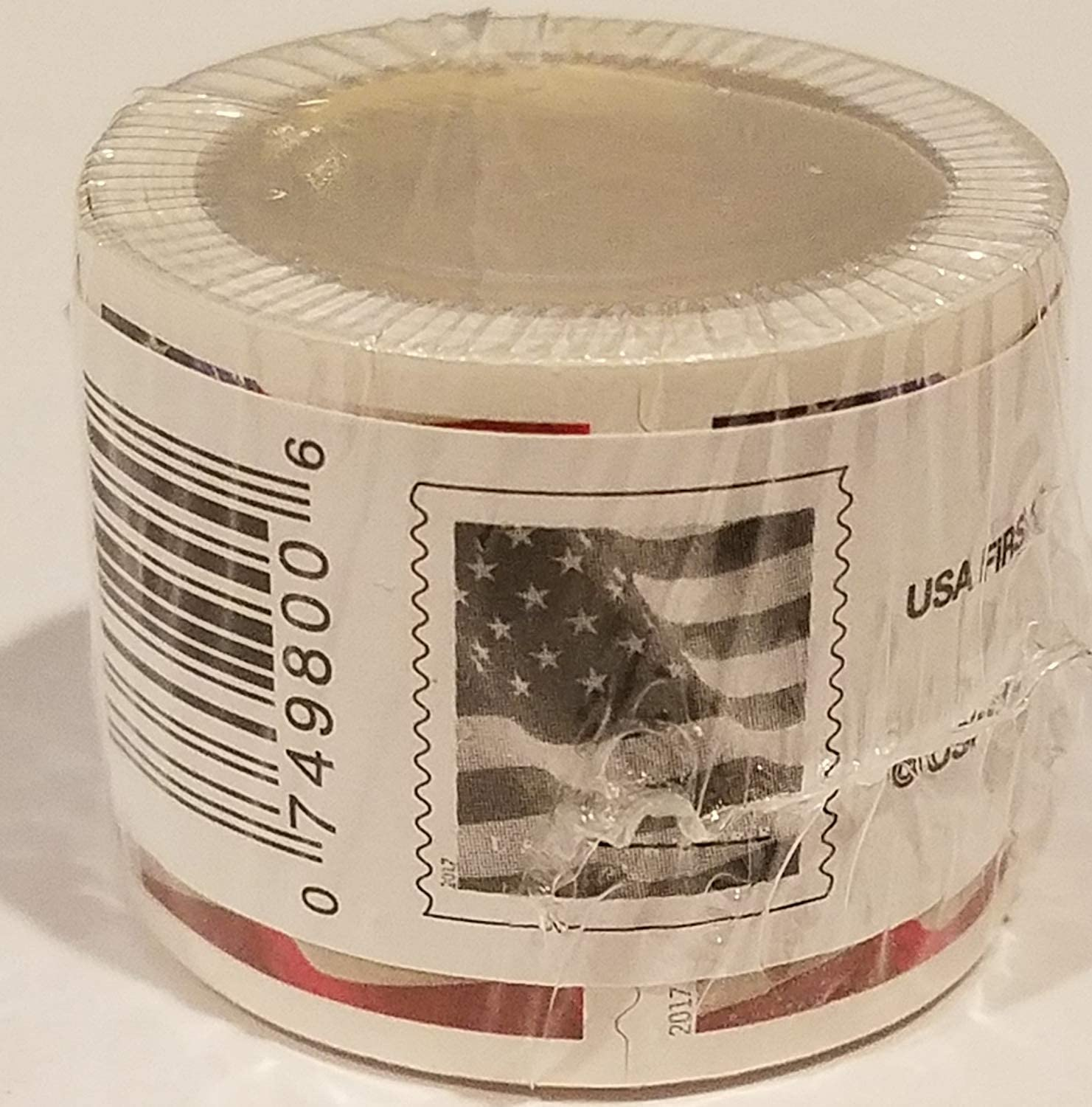 USA Flag 2017 Forever Stamps Roll of 100.