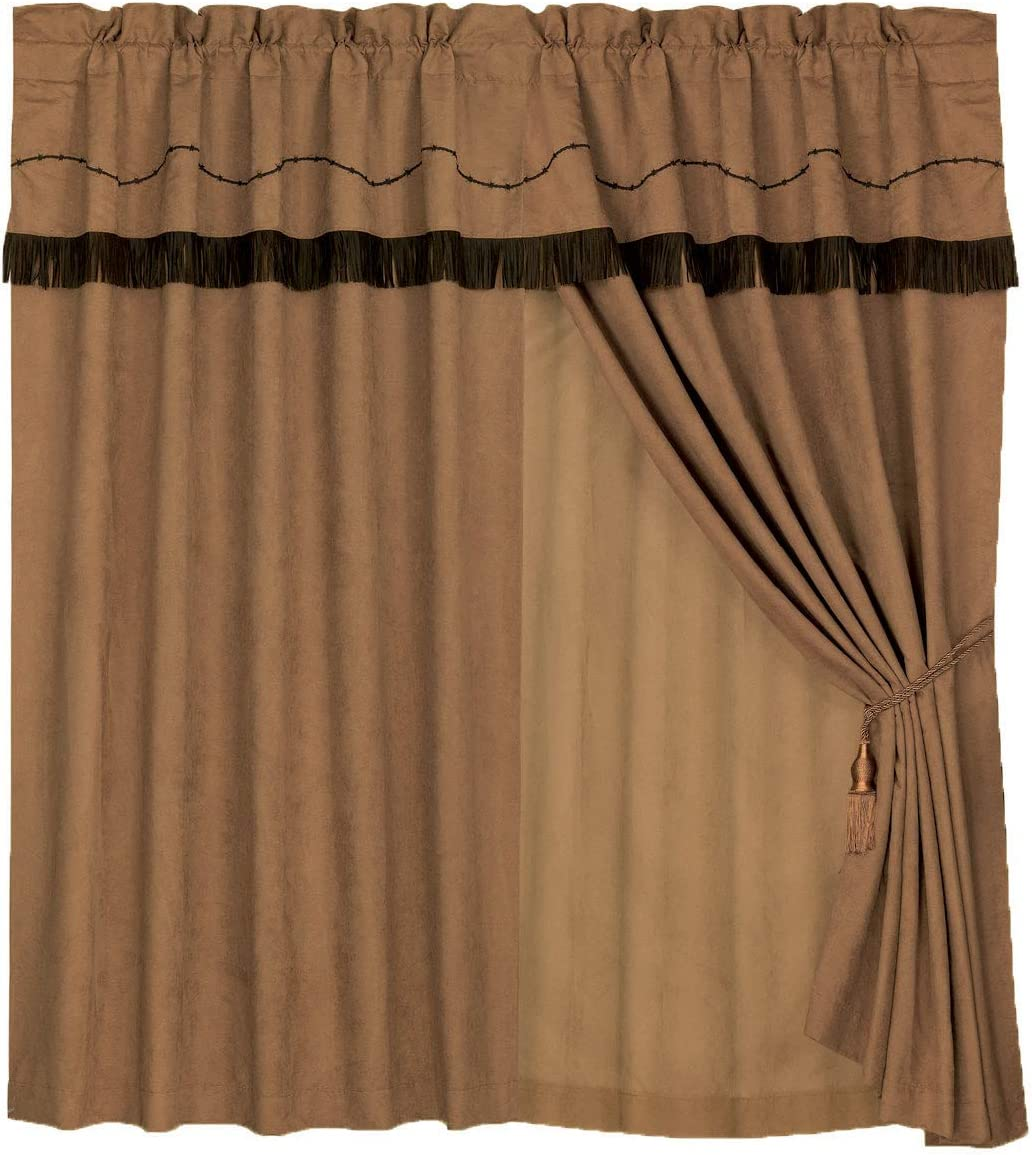HiEnd Accents Barbwire Western Curtain