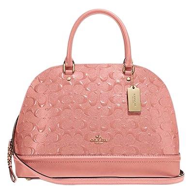 3a194fe02dd2 Amazon.com  Coach Signature Sierra Dome Satchel Bag Handbag Purse - Melon   Shoes