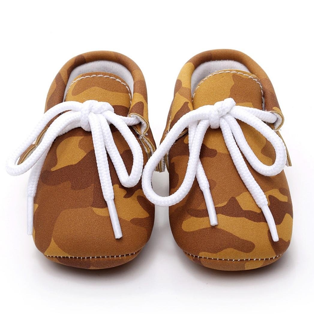 Fabal Baby Girl Boys Camouflage Frenulum Fashion Shoes Sneaker Anti-slip Soft Shoes