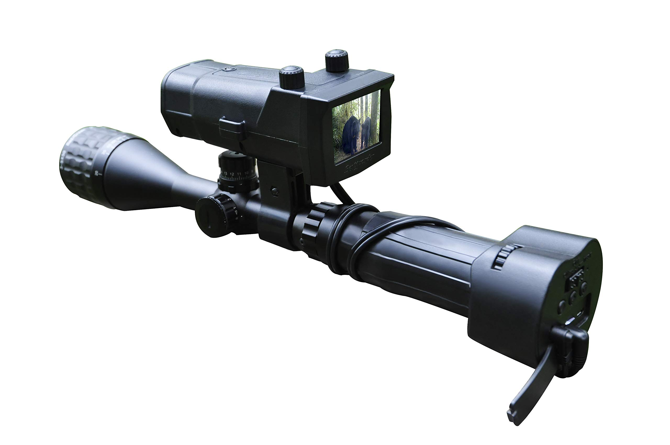 "DOJOYNIGHT 300M / 1000ft / 320 Yards Identification Range Scope Mounted 940NM Infrared Digital Night Vision Systems Recording Photo or Video for Night Hunting with WiFi Function and 4.3"" LCD Screen by DOJOYNIGHT (Image #1)"