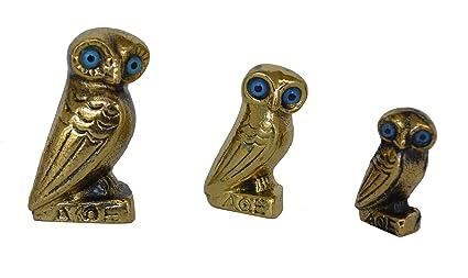 Amazon Com Estia Creations Set Of 3 Mini Bronze Owl