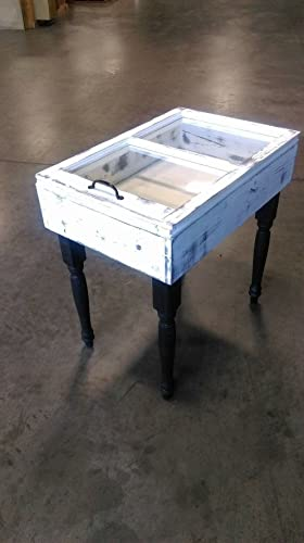 Shabby Accent Table   Window Accent Table   Shabby End Table   Window End  Table