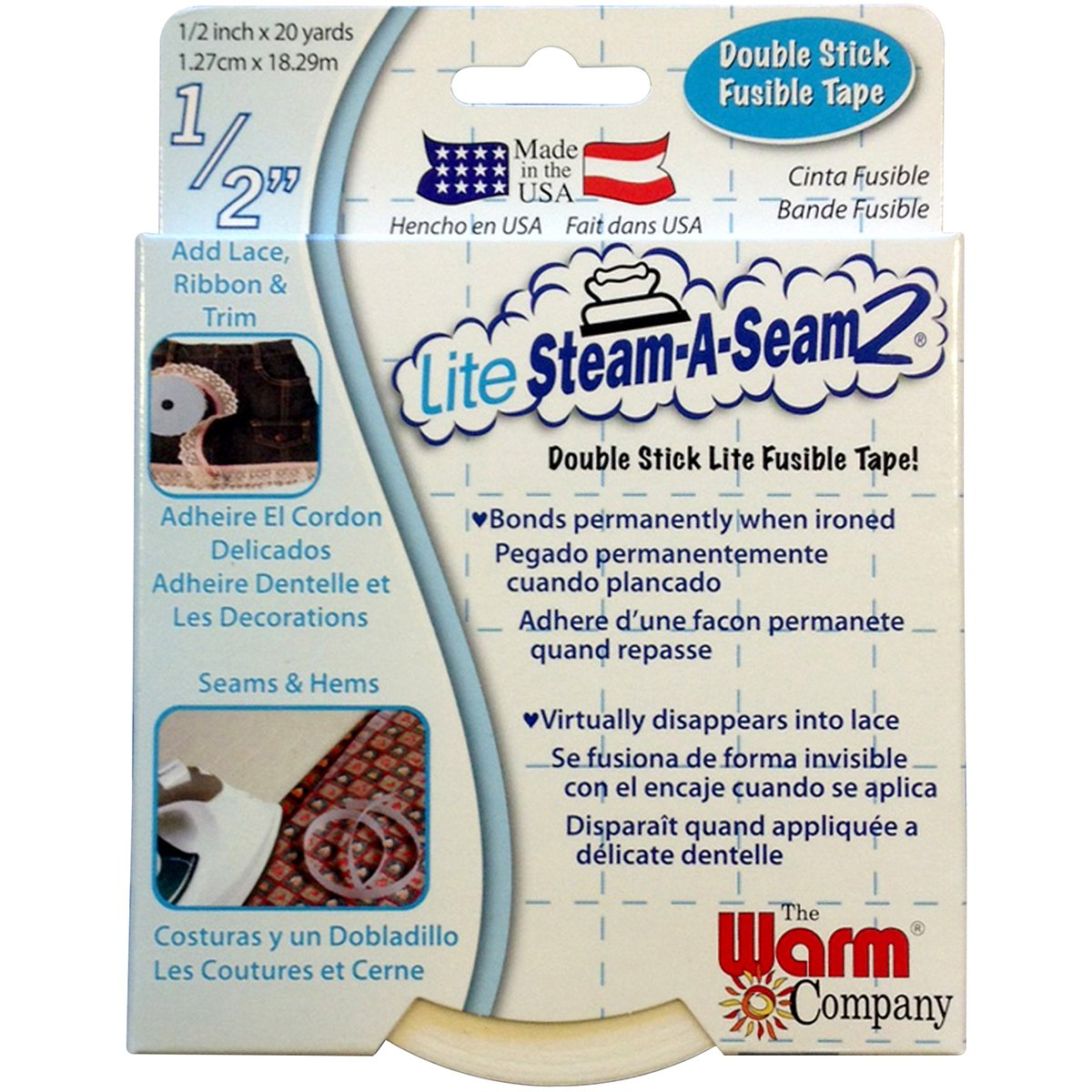 Warm Caldo società Lite steam-a-seam double stick Fusible web,, 1.49x 12.19x 15.74cm Warm Company 5410