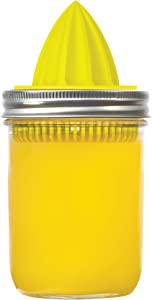 Jarware Juicer Lid for Wide Mouth Mason Jars, Yellow