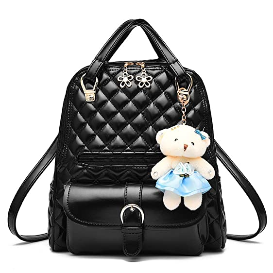 Amazon.com | Dunland women PU Leather Designer Mini Backpack Purse ...