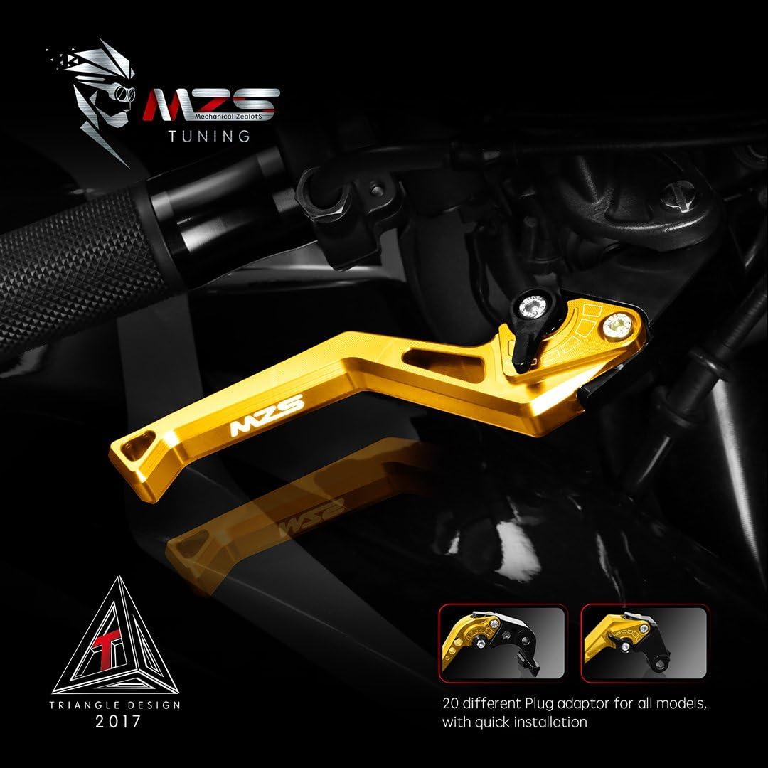 MZS Kit de leviers d/'embrayage et de frein pour Yamaha MT-09 Tracer//FJ-09//Tracer 900 2015-2018 FZ-10//MT-10 2016-2018 Yamaha FZ-10//MT-10,FJ-09//MT-09 Tracer//Tracer 900 rouge