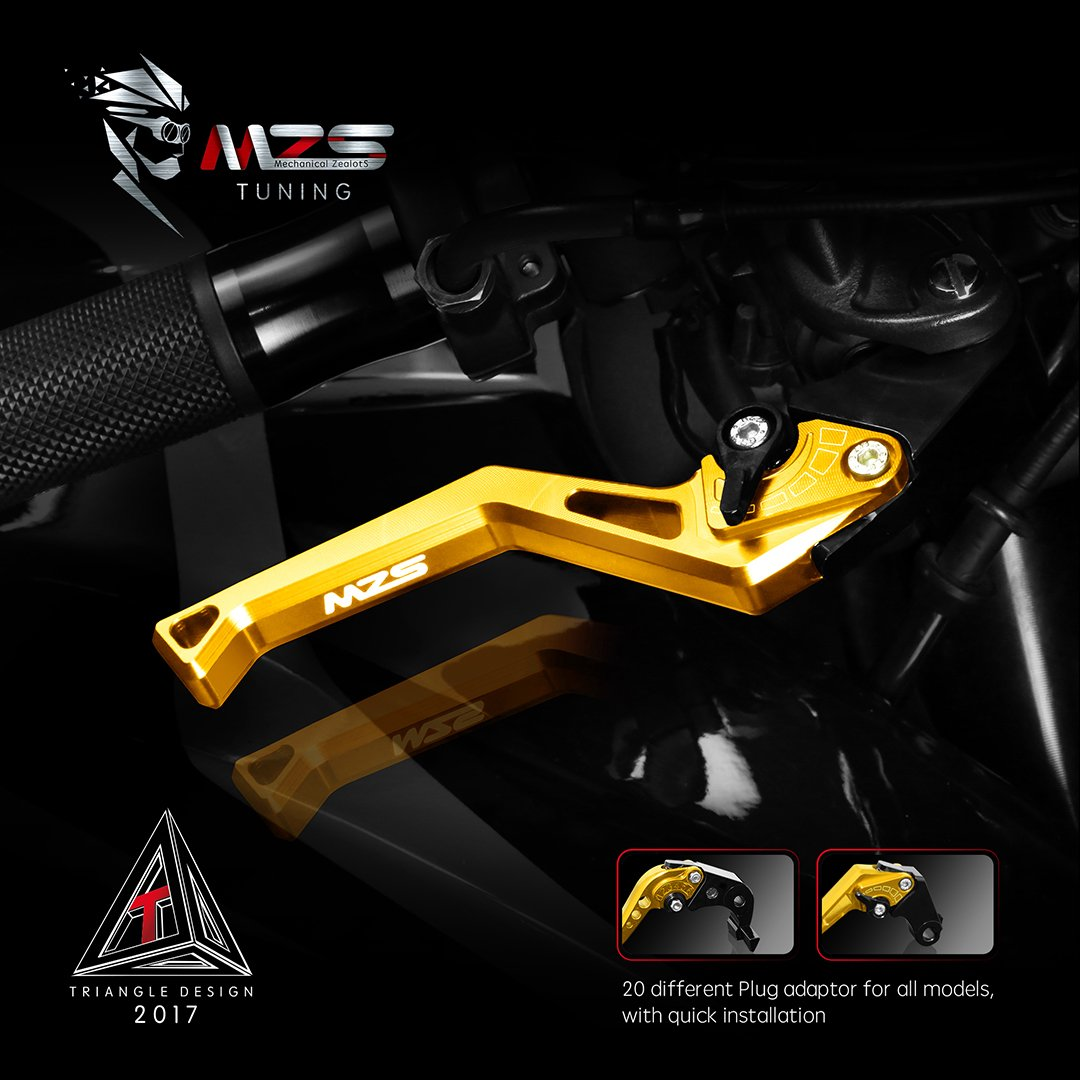 MZS CNC Brake Clutch Levers Set Compatible Honda CBR600RR 2007-2019 CBR1000RR//Fireblade//SP 2008-2019 Dark Blue