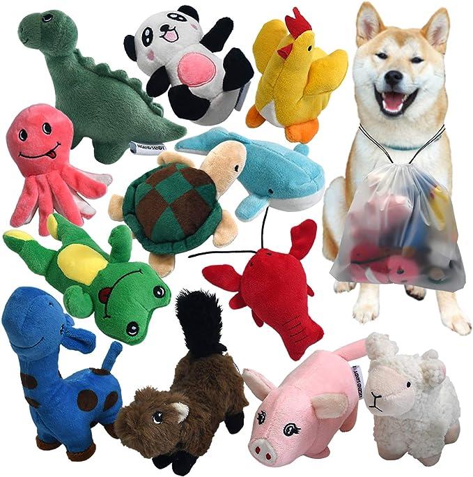 Juguetes para Masticar Mascotas Amasawa Juguete para Perro de Peluche Juguetes para Perros Squeaky para Cachorros para Juguetes para Perros Squeaker de Felpa Grandes Medianos y Duraderos