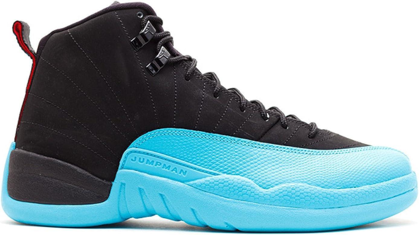 uk availability 80bf9 691d1 Nike Mens Air Jordan 12 Retro Gamma Blue Black Gym Red-Gamma Blue Leather