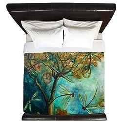 CafePress Dragonfly Flirtation King Duvet Cover, Printed Comforter Cover, Unique Bedding, Microfiber