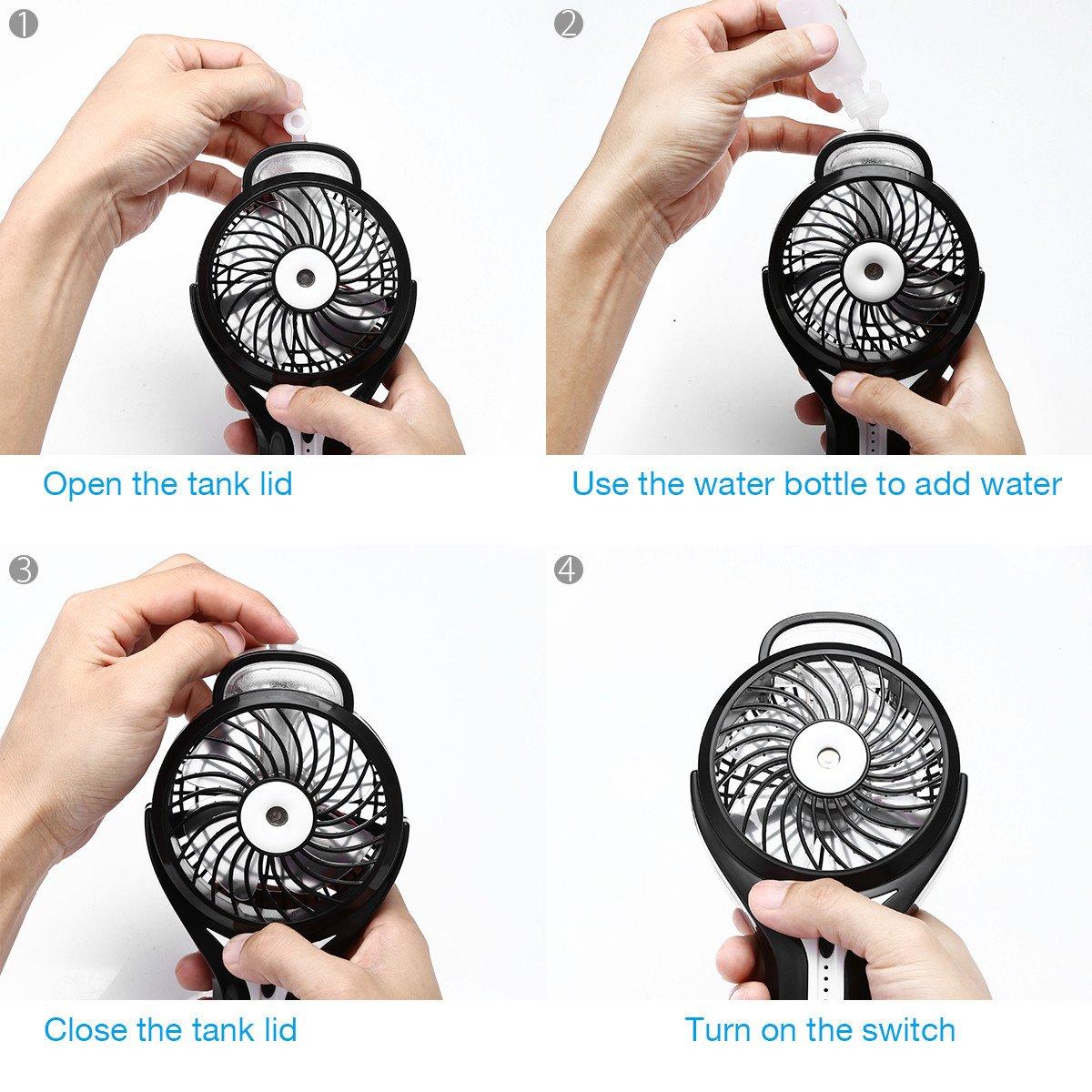 isYoung USB Ventilator Mini Fan mit Kühlung -schwarz