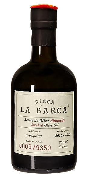 Aceite de Oliva Ahumado Finca La Barca botella 250 ml.