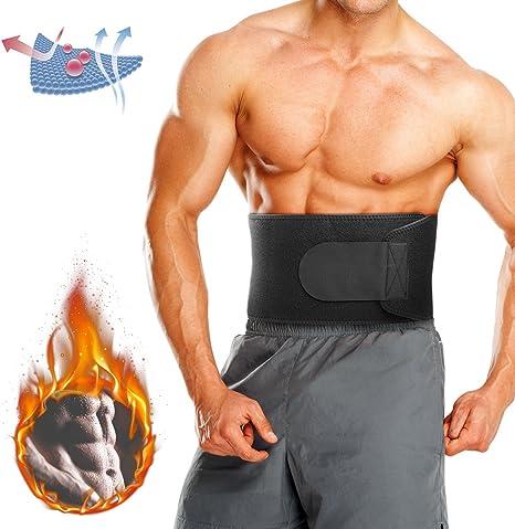 Waist Trimmer Sweat Belt for Weight Loss Relefree Adjustable Belly Fat Burner /&