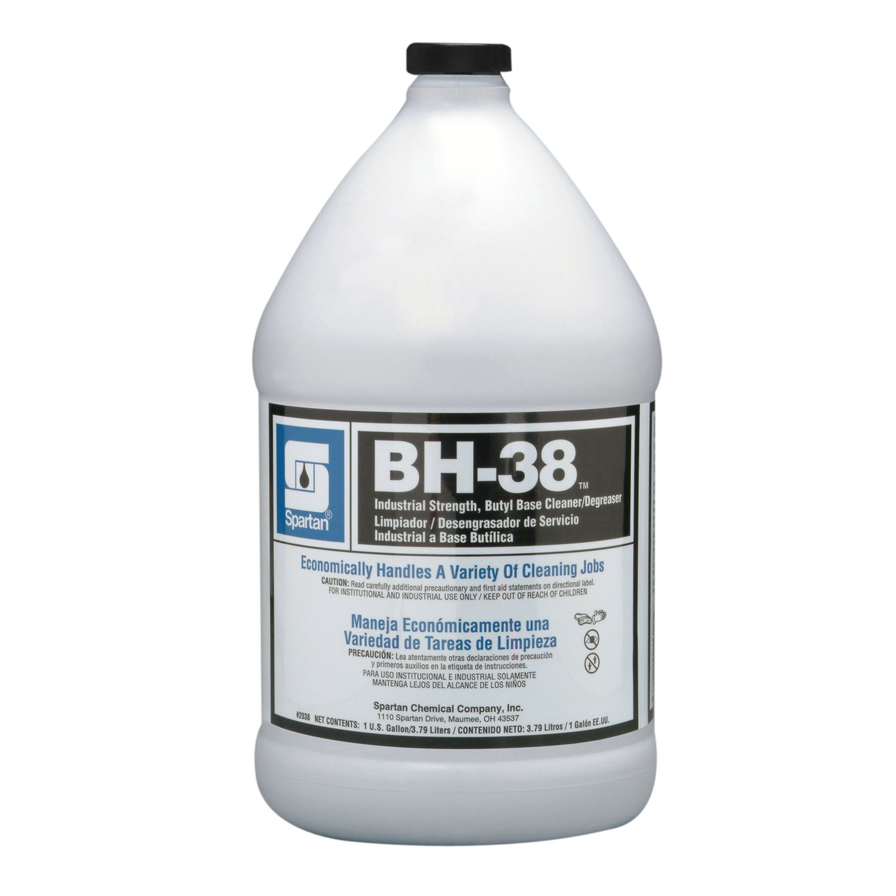 Spartan BH-38 Industrial Cleaner/Degreaser, Gallon, Gallons, 4 Per Case