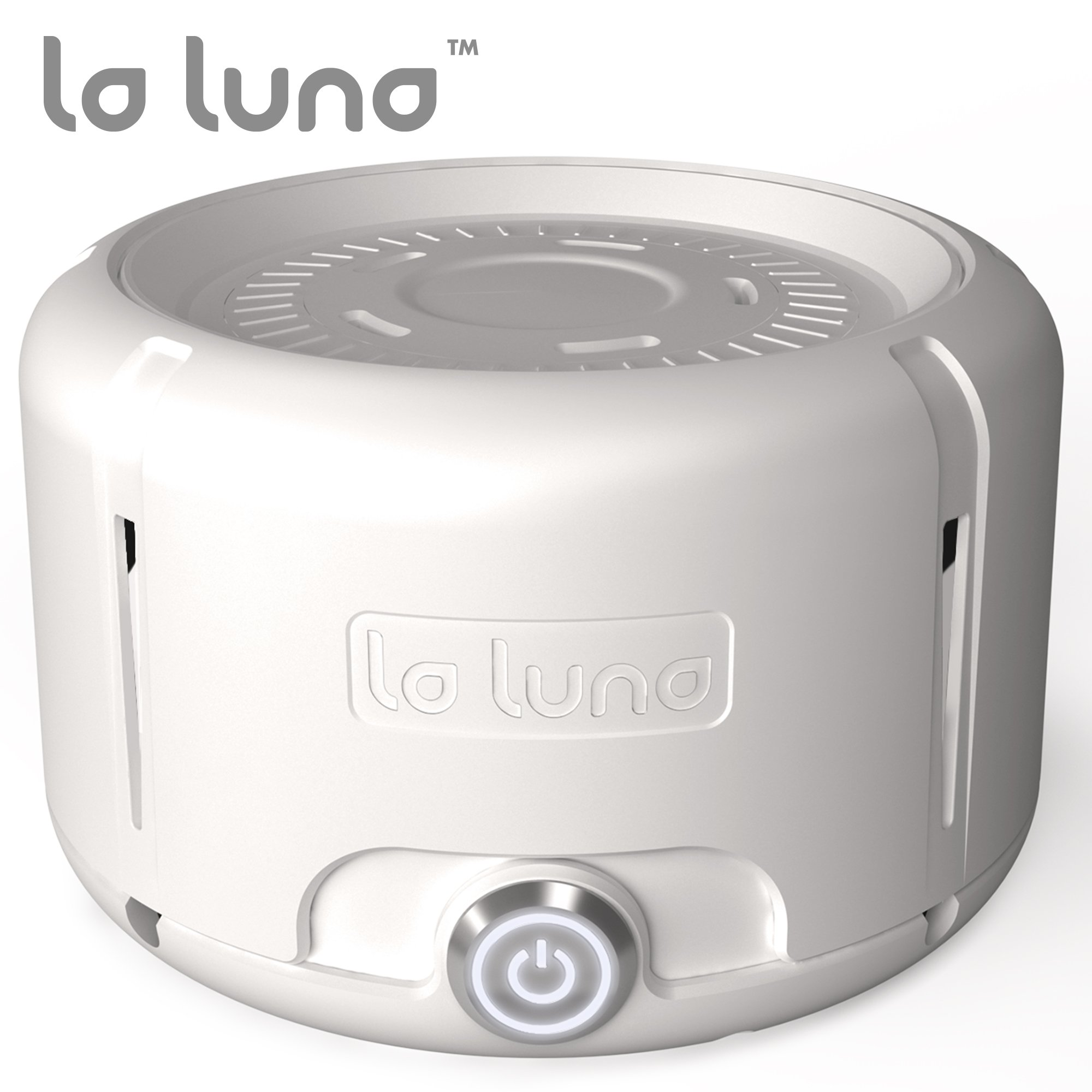 La Luna White Noise Machine – Fan Sound Machine Generator of White Noise for Sleep, Baby, Privacy, Etc. - Dual Speed & Volume Control - Natural Sound Sleep Machine and Soother