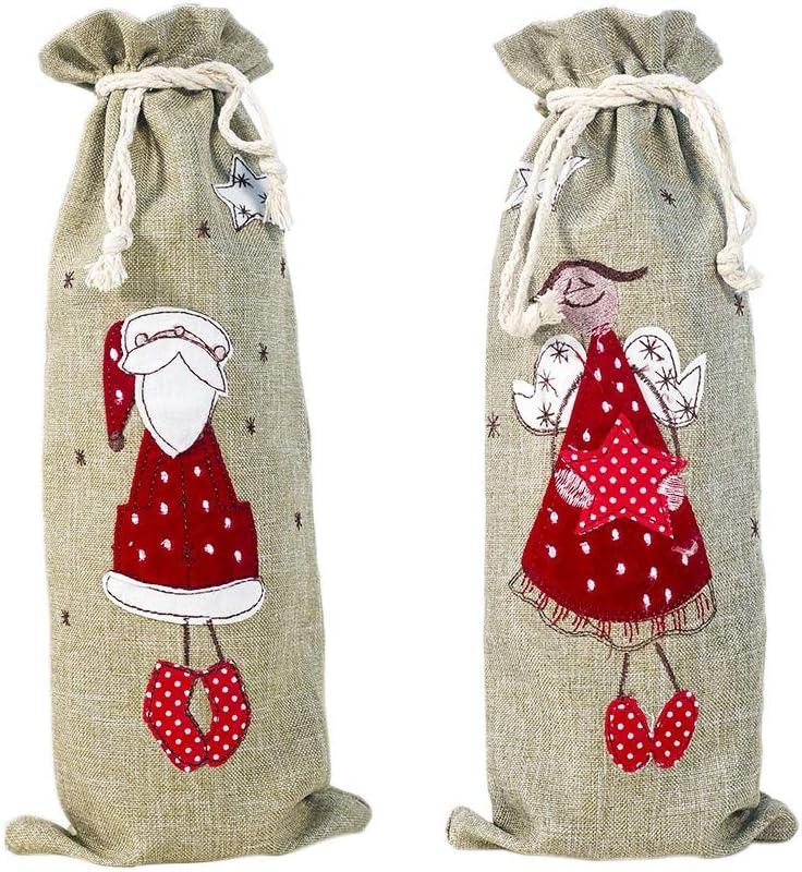 TOOGOO 4 Pcs Cubiertas de Botellas de Vino de Navidad SuéTer de Mu ...