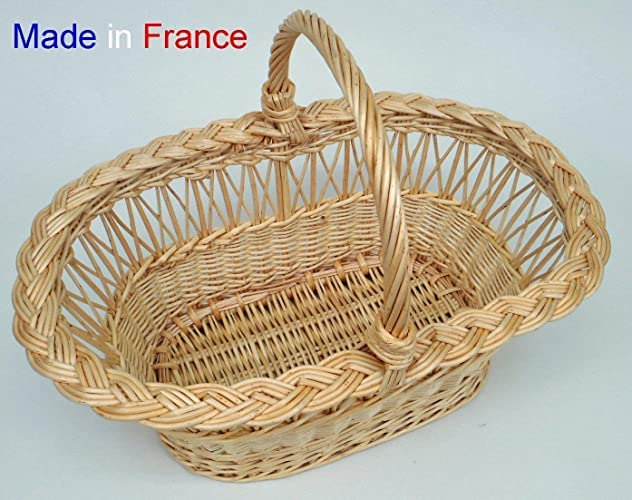 Panier En Osier Jour Croise Anglais Amazon Fr Handmade