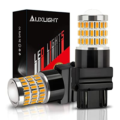 AUXLIGHT 3157 3156 3057 4157 3157K LED Bulbs Amber Yellow, Ultra Bright 57-SMD LED Replacement for Blinker Lights, Turn Signal/Parking or Running Lights, Brake/Tail Lights (Pack of 2): Automotive