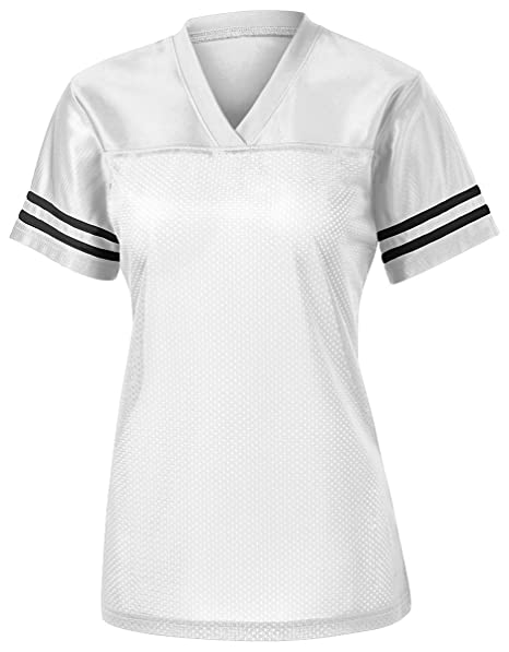 95528de79 Amazon.com  Sport-Tek Ladies PosiCharge Replica Jersey  White Black ...