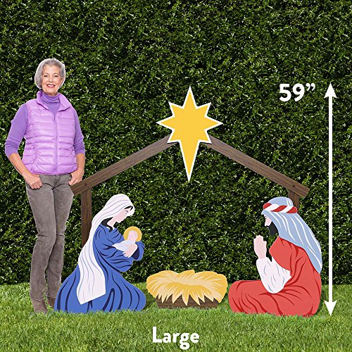 Outdoor Nativity Store Holy Family Outdoor Nativity Set (Large, Color) by Outdoor Nativity Store (Image #1)