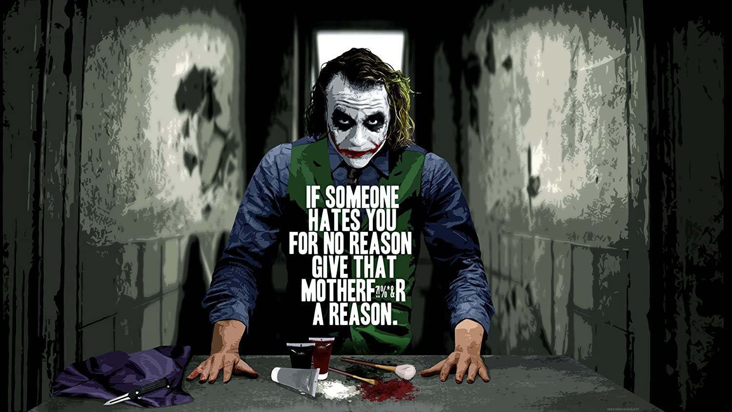 poster batman quote joker movie wall poster paper x